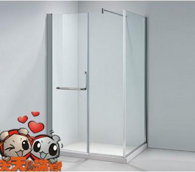 大小浴室都合适--圆弧形淋浴房      这款淋浴房为推拉型开门