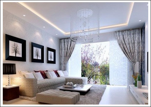 2013最新客厅窗帘效果图