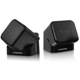 浪琴谷L803迷你小音响 USB电脑小音箱/USB音响/专利产品 箱体旋转