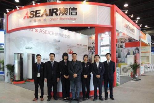 2013上海热泵展,澳信低温供暖机组引关注