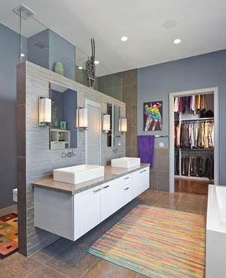 家庭卫浴间隔你会设计吗