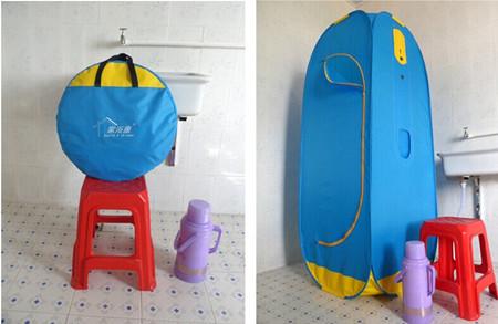 电自吸水款全封闭式简易折叠整体淋浴房