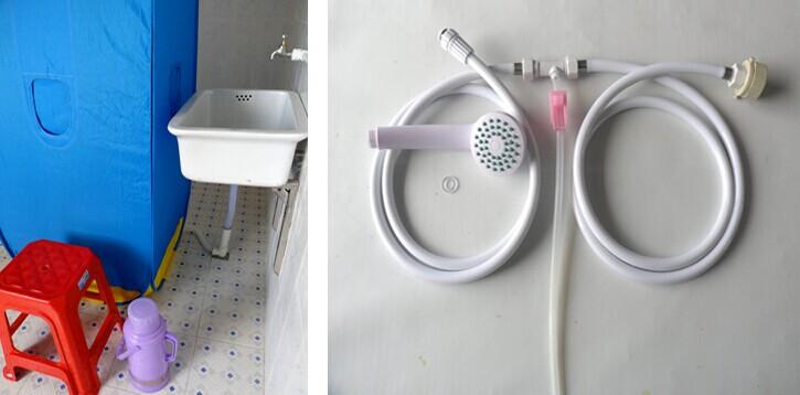 ZX-720全封闭免用电自吸水款简易折叠淋浴房安装