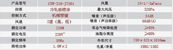 法迪欧/Fardior侧吸式油烟机CXW-218-J7501