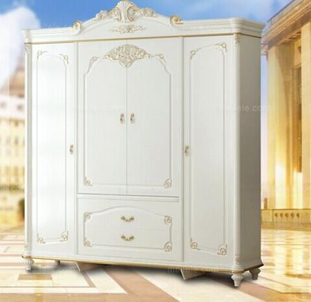 法兰西玫瑰法式风格桦木衣柜
