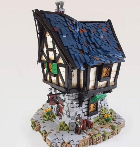 """""""中世纪lego房子""""的设计灵感来源于""""指环王""""图片"""