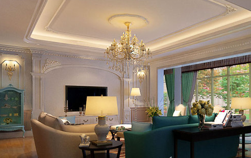 法式风格客厅装修图片