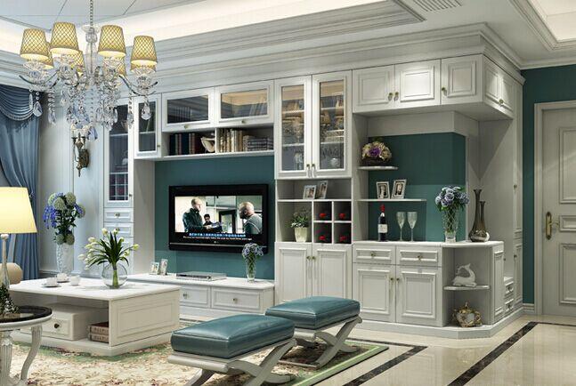 与电视柜一体设计,完美连接客厅和玄关的转角