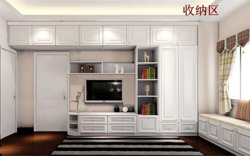 到顶的衣柜设计,左边延伸过来的奇门吊柜