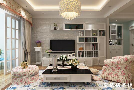 客厅电视背景墙设计材料-----石砖