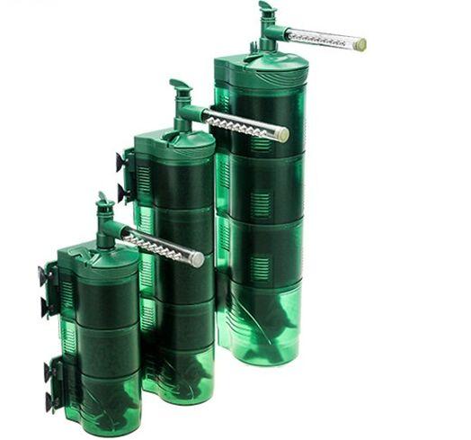 七大优势多功能内置式雨淋过滤器 1、多种功能集于一身 —— 集水体循环,水质过滤盒增加水中溶氧量等众多功能于一身,真正实现一机多用高效便利。 2、高效过滤 —— 多重的进水口分布设计,能够有效配合滤盒中的生化绵和活性炭,进行更加高效的过滤盒净水工作。 3、独特过滤结构 —— 多重过滤盒内置不同滤材,针对水族箱多种过滤问题设计而成,源源不断的输出清洁水流。 4、清洁油膜设计 —— 特殊设计的除油膜装置,能够悬停