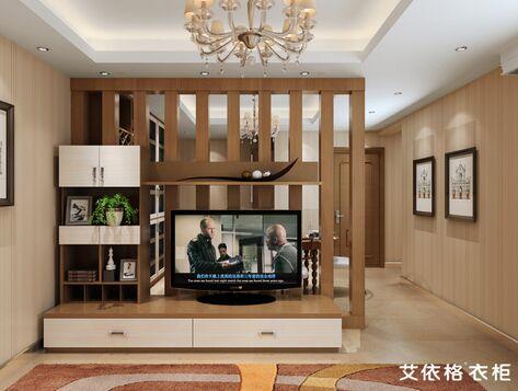 客厅简单素朴,拼色电视柜