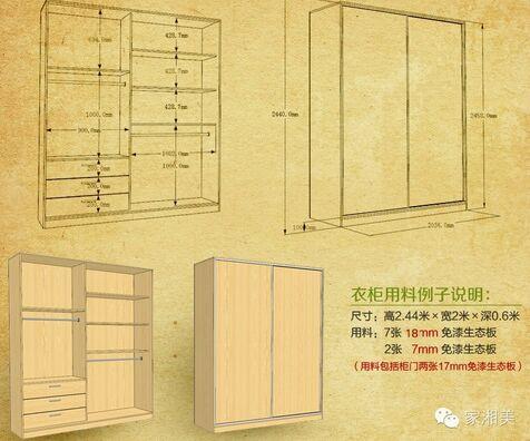 2米衣柜结构图片