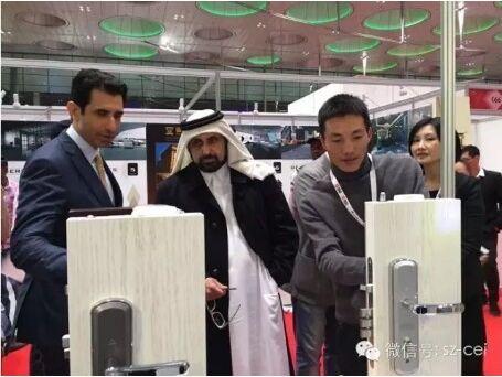 中国制造亮相卡塔尔,中高端防盗锁核桃智能锁受追捧