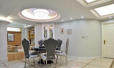 低调的欧式风格 136平三室两厅室内门装修案例
