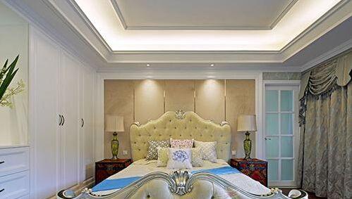 在欧式风格的房间可采用反射式灯光照明或局部灯光照