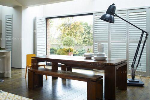 实木百叶窗图片及安装注意事项