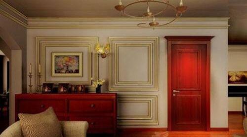 搭配贵气的漆红色木门
