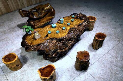 金丝楠木根雕茶几实木树根茶台,0.6—0.