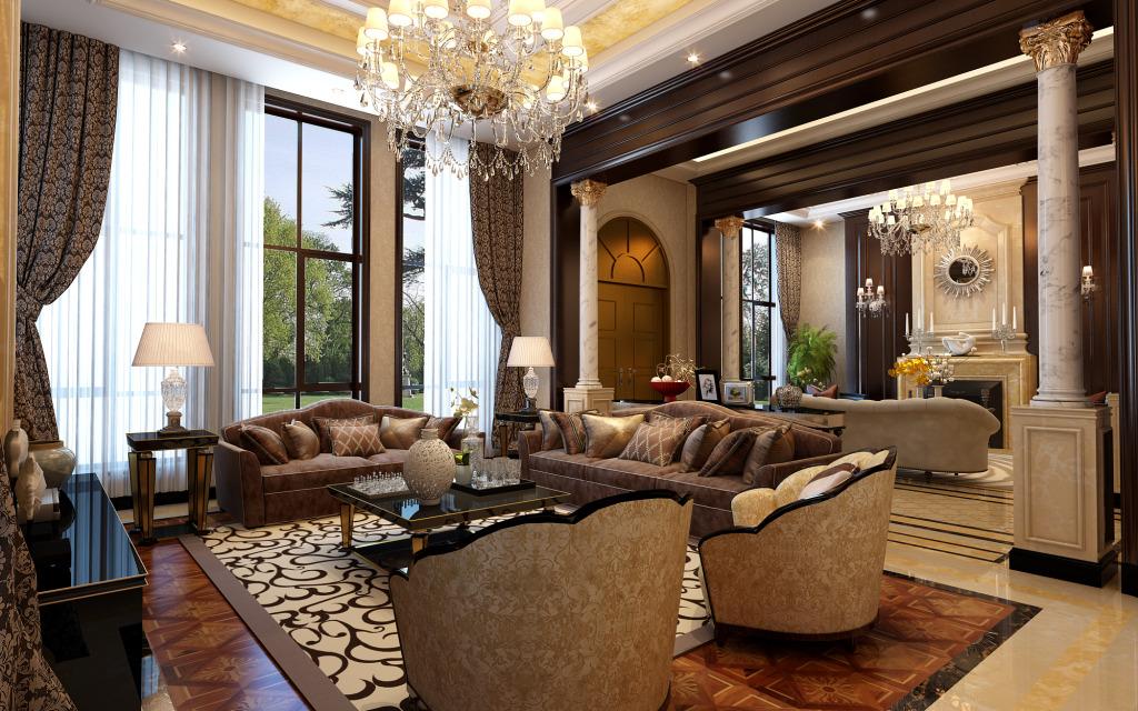 线板造型欧式华丽木门 塑造浪漫新古典家装