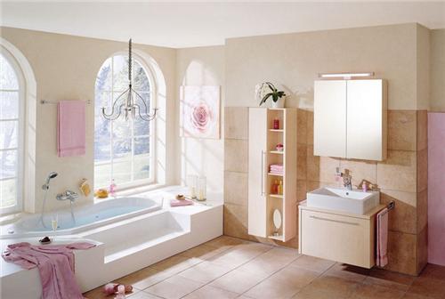 粉色的卫浴空间   女性的欧式公主复古之旅