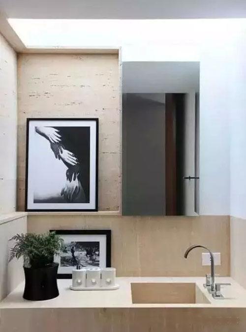 这种风格的卫浴间你见过吗?居然可以这样来装修