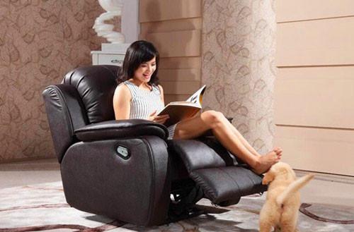 太舒服了 这样的单人沙发我也想要