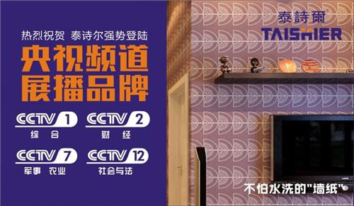 中国制造先锋  泰诗尔艺术涂料席卷央视