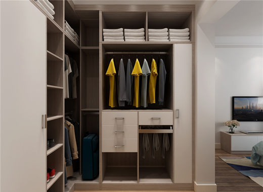 无论什么卧室格局,定制衣柜四种设计都能轻松应对