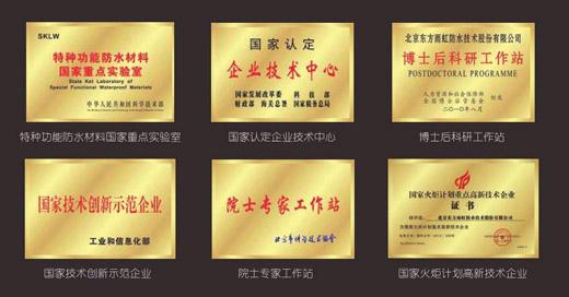 """东方雨虹十大防水材料品牌入选""""国家知识产权示范企业"""""""