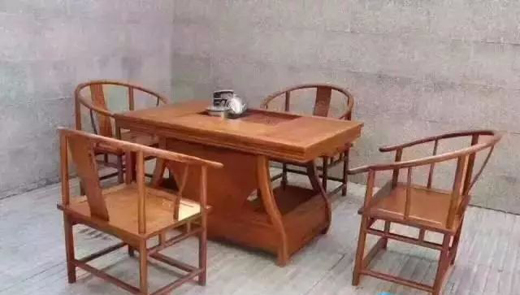 红木茶桌古典家具古典家具,茶室的古典家具必需品