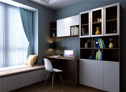 儿童房用贝思科来设计,15㎡的空间内摆放双层床,衣柜