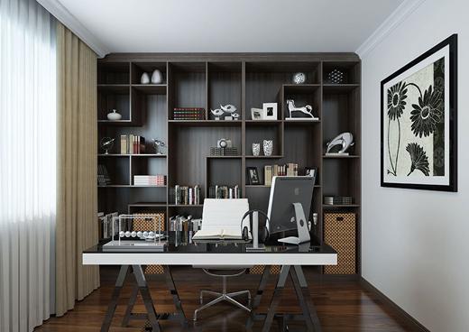 家具最得力的开放式书柜,展现读者高乐雅的优雅品味