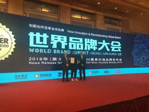 萨米特跻身世界品牌百亿俱乐部