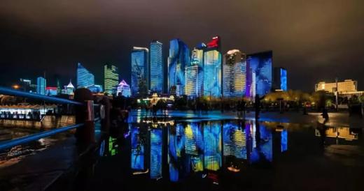 围观 | 解锁岛城夜景亮化新模式