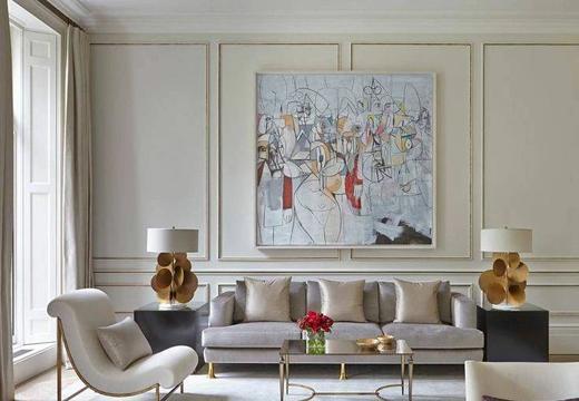 客廳石膏線效果圖,超美石膏線背景墻吊頂設計