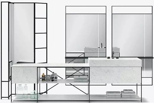 意大利厨房BOFFI旗下MA/U品牌的极简线条勾勒自由空间