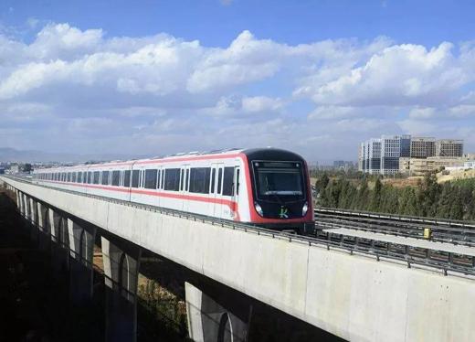 昆明市首条地铁线即将涂装亮豹无机涂料
