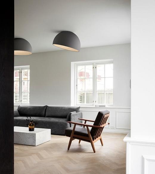 西班牙灯饰品牌Vibia,以木材为主要材料的Duo吸顶灯