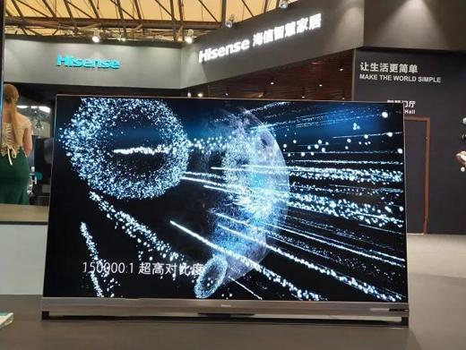画质称王多年的索尼,如今正遭遇最强对手海信叠屏电视