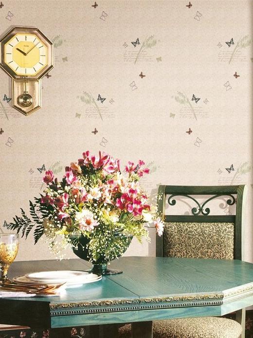 欧仕莱壁纸:花式手写体英文元素上墙,超有范!