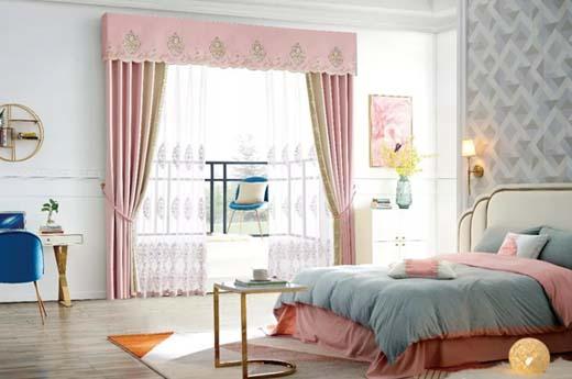 布之美窗帘:绝美山茶花粉 营造属于你的甜美梦境
