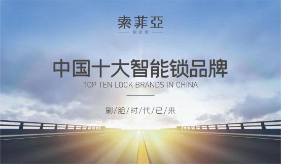 """荣耀加冕,索菲亚智能锁荣获""""中国十大品牌""""称号"""