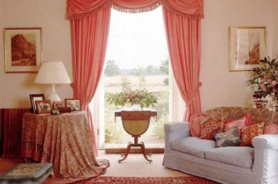 公主房欧式窗帘带帘头图片