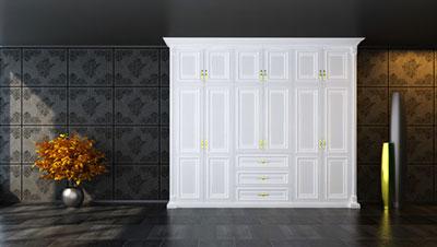 白橡木简欧风格衣柜迎合市场需求